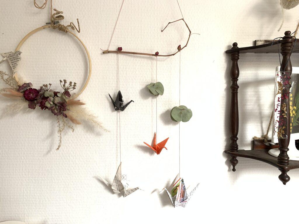 grue origami en décoration